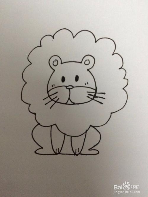 怎样画出简单的狮子简笔画?图片