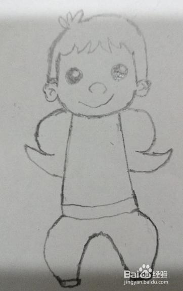 帅动漫白纸画的_手工/爱好 > 书画/音乐  1 首先准备一张白纸和笔,作绘画帅气的小男孩