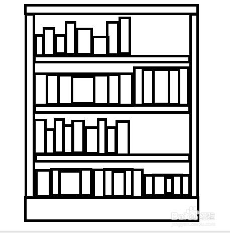 简笔画教程之书架画法_百度经验图片