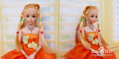怎么给芭比娃娃扎头发图片