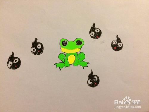 这样小蝌蚪和青蛙都画好了.7最后把蜜蜂填上颜色.end妈妈不接受育王台图片