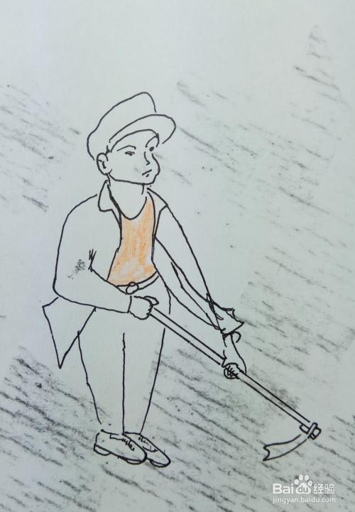 农夫锄地的简笔画_怎样画儿童简笔画\