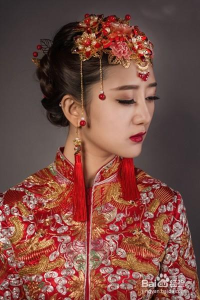 中式复古新娘妆怎么画图片