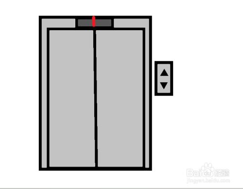 电梯简笔画怎么画_百度经验图片
