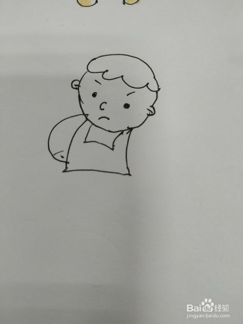 吃饭的小宝宝简笔画怎么画,吃饭小孩简笔画画法图片