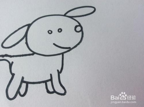 小狗的简笔画怎么画?怎么画小狗的呢?