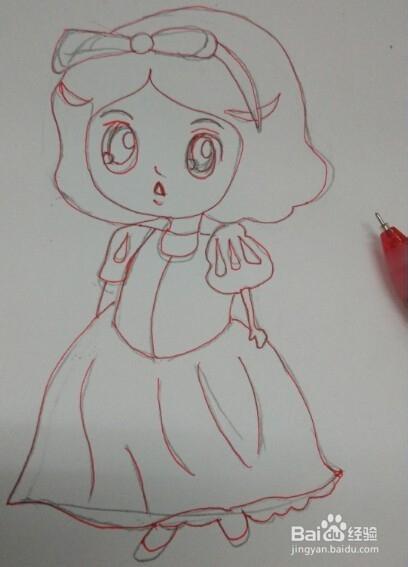 4 给白雪公主画上美丽的发卡.图片