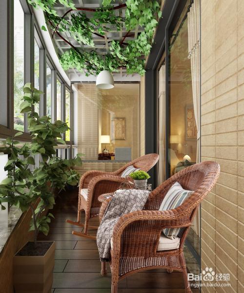 2 开阔的阳台连接着室内与室外,没有户外冷冽的风,亦没有室内封闭的图片