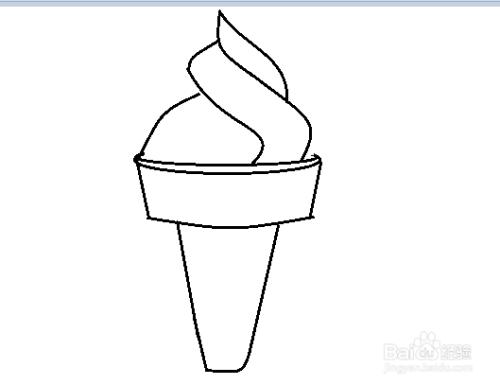 冰淇淋甜筒的画法图片