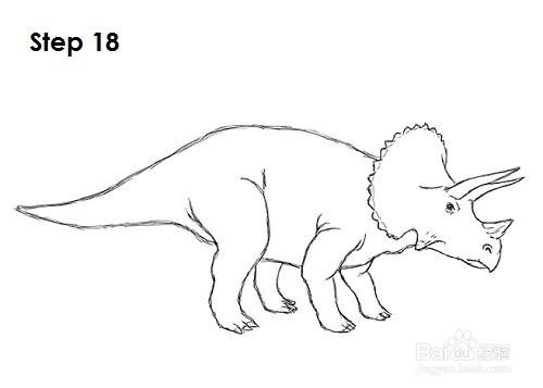 如何画三角龙——加菲的吃货生活图片