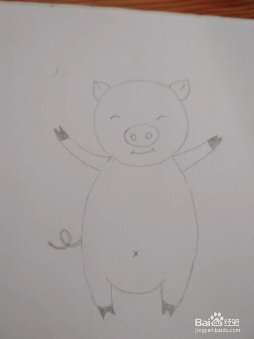 多妈简笔画动物一只快乐的小猪
