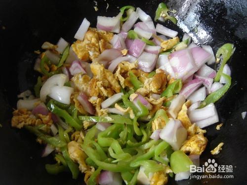香菇洋葱炒蛋辣椒上的味道家常舌尖鸡胗粥图片