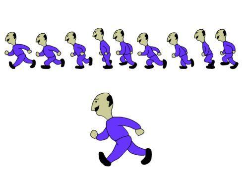 怎样用flash制作人物走路动画