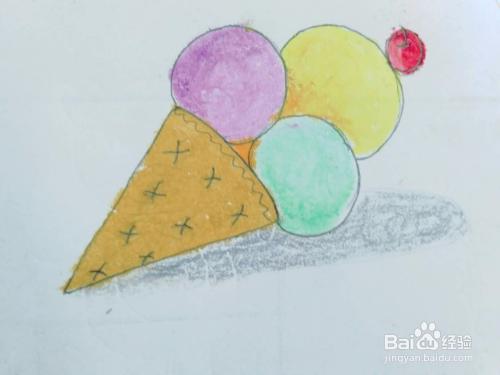 适合宝宝的简笔画美食冰淇淋的画法图片