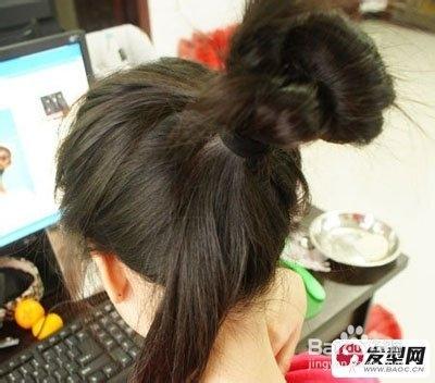 简单好看韩式包包头发型扎法 diy完美约会发型图片