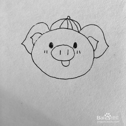 金猪送福气卡通简笔画绘画方法图片