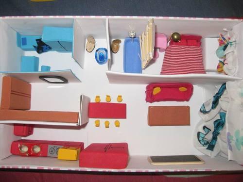 怎样制作鞋盒里的三室一厅图片