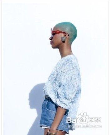 超有创意的时尚染发发型图片