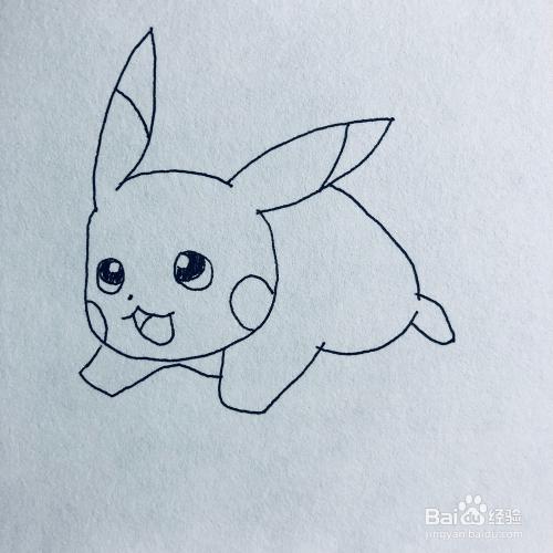 奔跑的皮卡丘卡通简笔画怎么画?