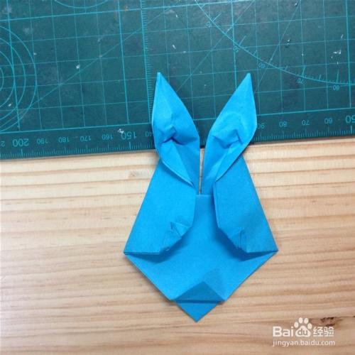 简单折纸--兔子面具的折法图片