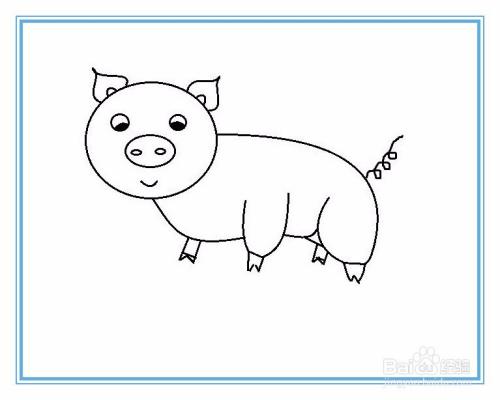 简笔画猪的画法图片