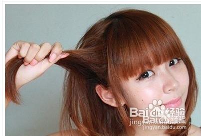 简单韩式短发发型扎法 图解图片