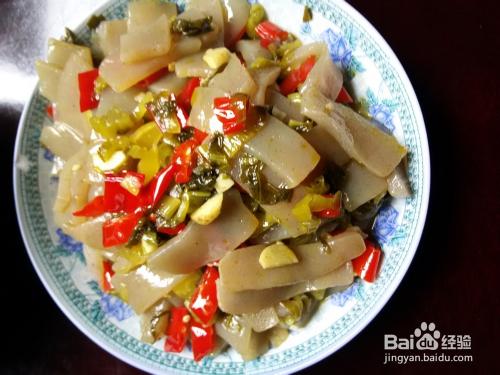 女生下体豆腐_酸菜炒魔芋豆腐