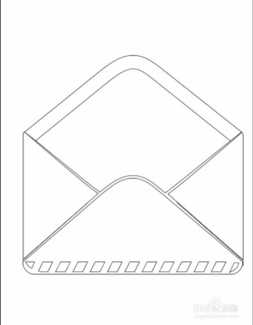 5 用灰白色填充信封里面的信纸路径,信纸上面的横条用灰色进行描边.图片