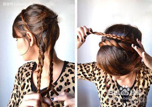 编织盘发技巧教你如何盘出优雅发型图片