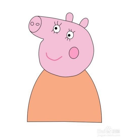 猪妈妈_怎么画小猪佩奇之猪妈妈的简笔画