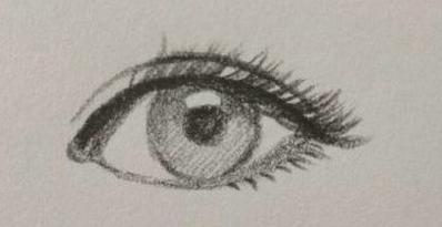 初学者学习眼睛的简单画法图片