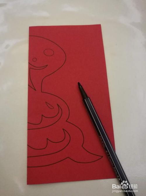 儿童趣味剪纸:十二生肖蛇图片