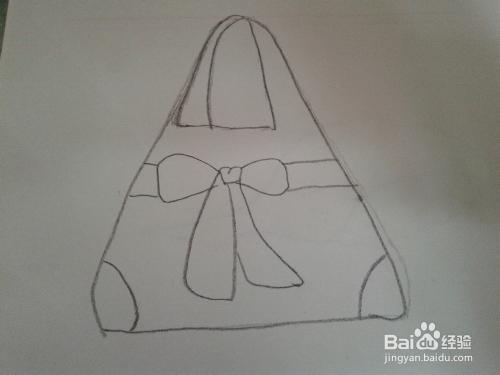 如何用彩色铅笔画漂亮的包包图片
