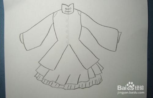 彩铅如何画好看的古装长袖裙图片