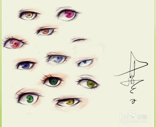 手绘板ps绘画画一条通往家的路之三:画眼睛图片
