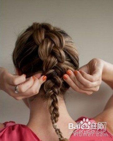 韩式盘发发型diy图片
