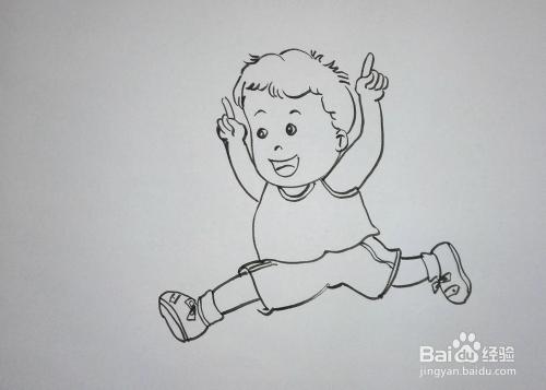 儿童趣味创意画:[18]简笔画《足球小子》图片