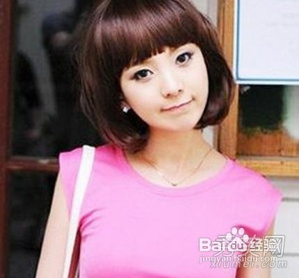 圆脸女生发型设计,短发修饰完美脸型图片