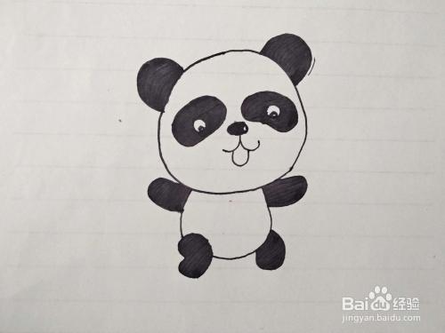 怎么手绘一只大熊猫?大熊猫简笔画教程?图片