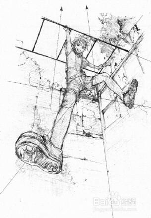 ps板绘画漫画:三点透视法图片