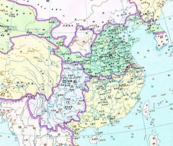 三国时期州郡疆域地图