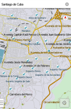 Santiago city traffic map - the latest version of erlinyou
