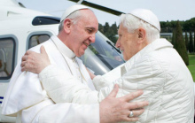 Pope Francis and former Pope Benedict sixteen world