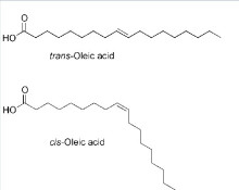 The unsaturated fatty acid structure