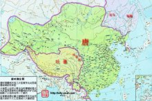 The territory of Tang Dynasty
