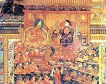 The Fifth Dalai Lama sees Shunzhi Emperor