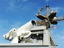 美国军舰上的激光武器