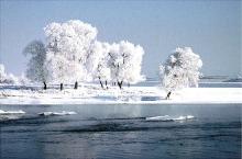 In winter, the Songhua River in Jilin rime