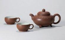 顾景舟紫砂云肩如意三头茶具