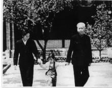 刘少奇与妻子王光美、女儿刘潇在中南海